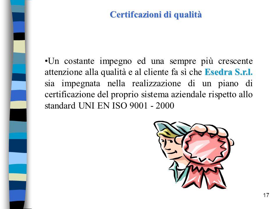 Certifcazioni di qualità