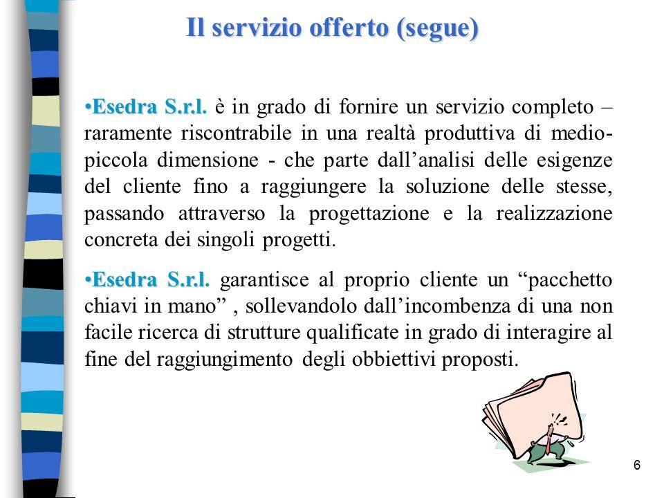 Il servizio offerto (segue)