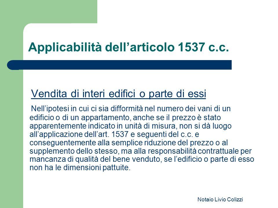 Applicabilità dell'articolo 1537 c.c.