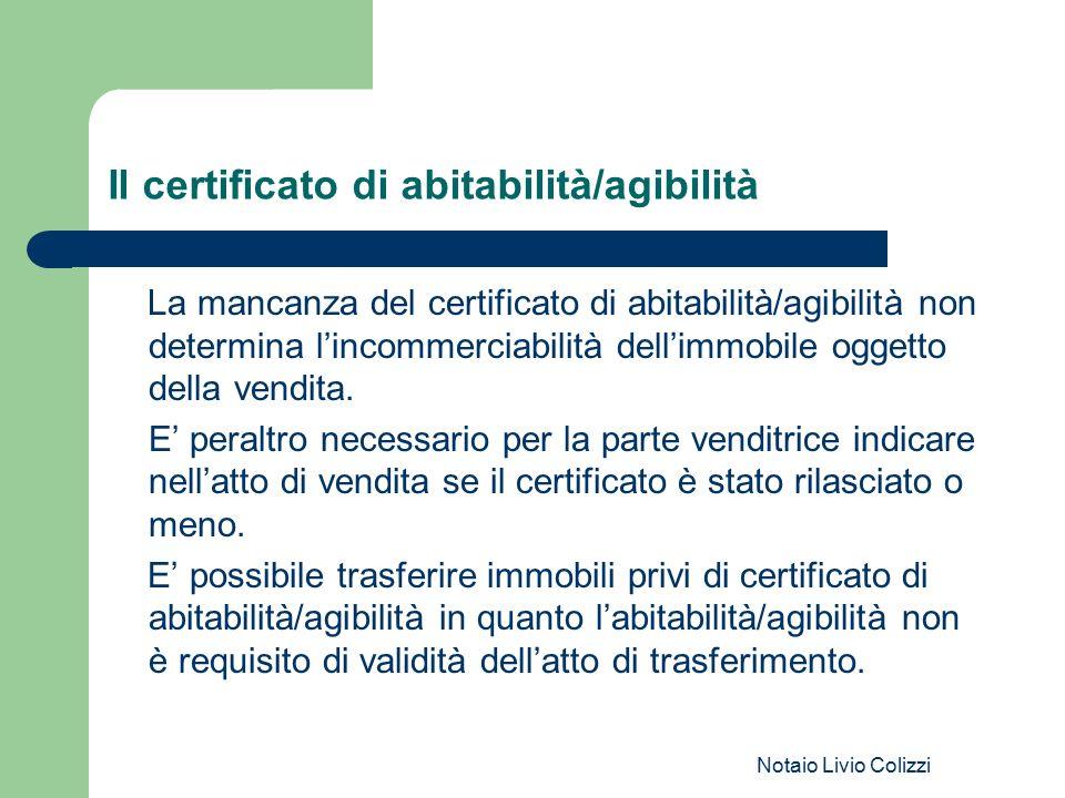 Il certificato di abitabilità/agibilità