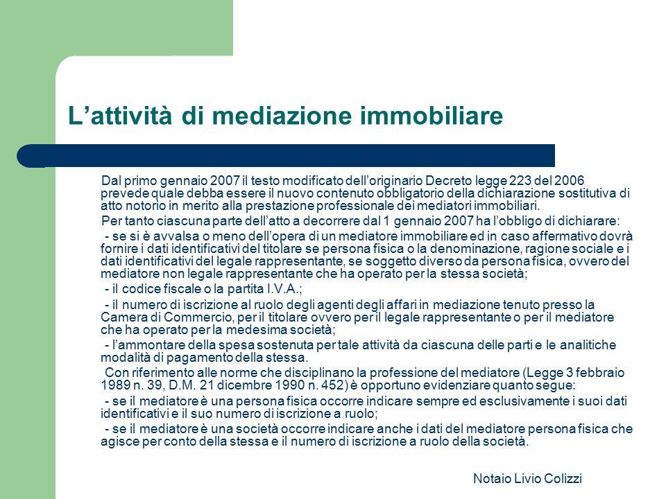 L'attività di mediazione immobiliare