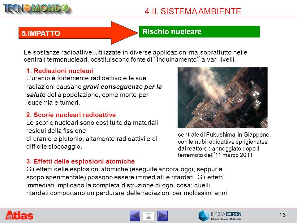 4.IL SISTEMA AMBIENTE Rischio nucleare 5.IMPATTO
