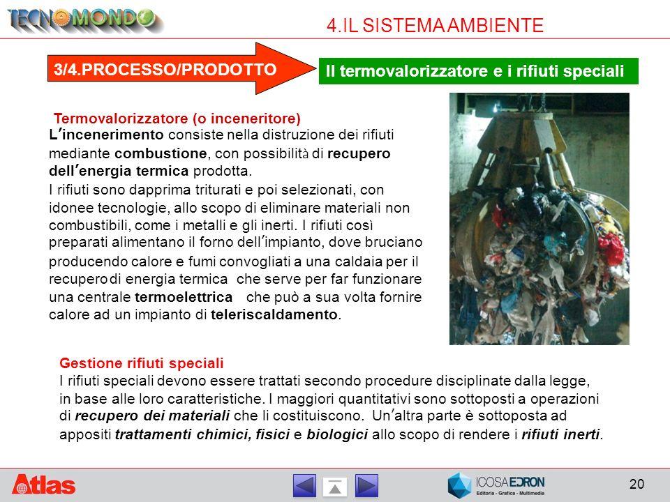 4.IL SISTEMA AMBIENTE 3/4.PROCESSO/PRODOTTO