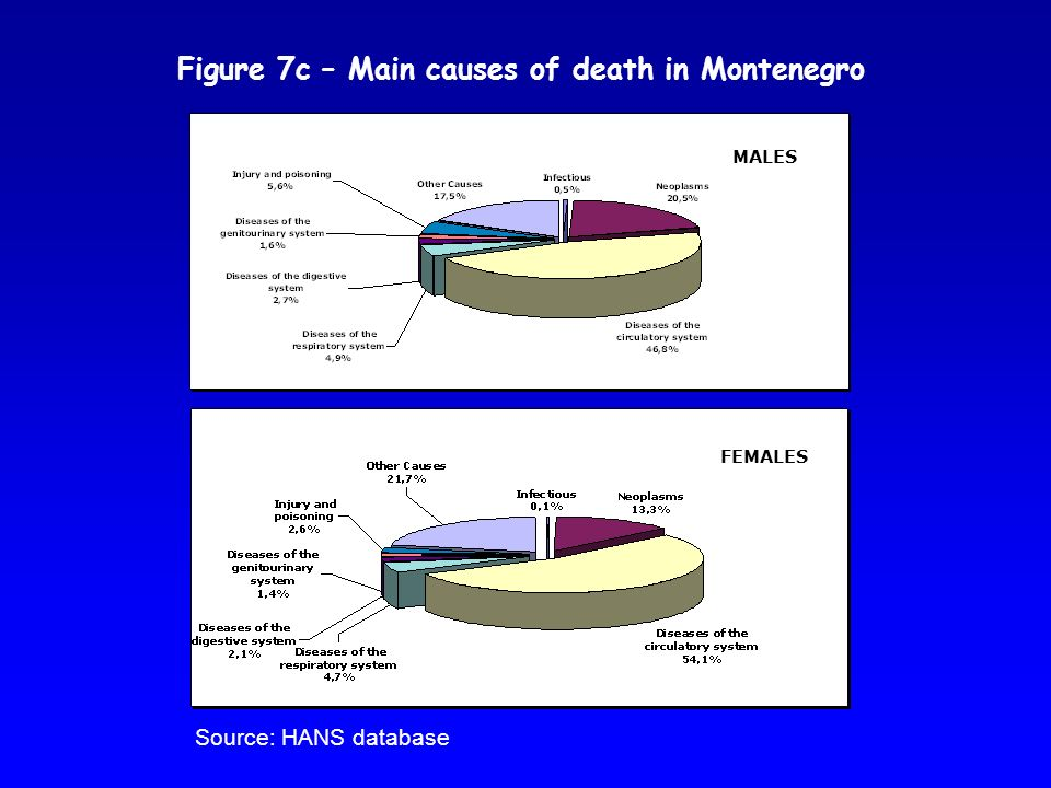 Figure 7c – Main causes of death in Montenegro