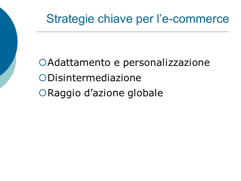 Strategie chiave per l'e-commerce