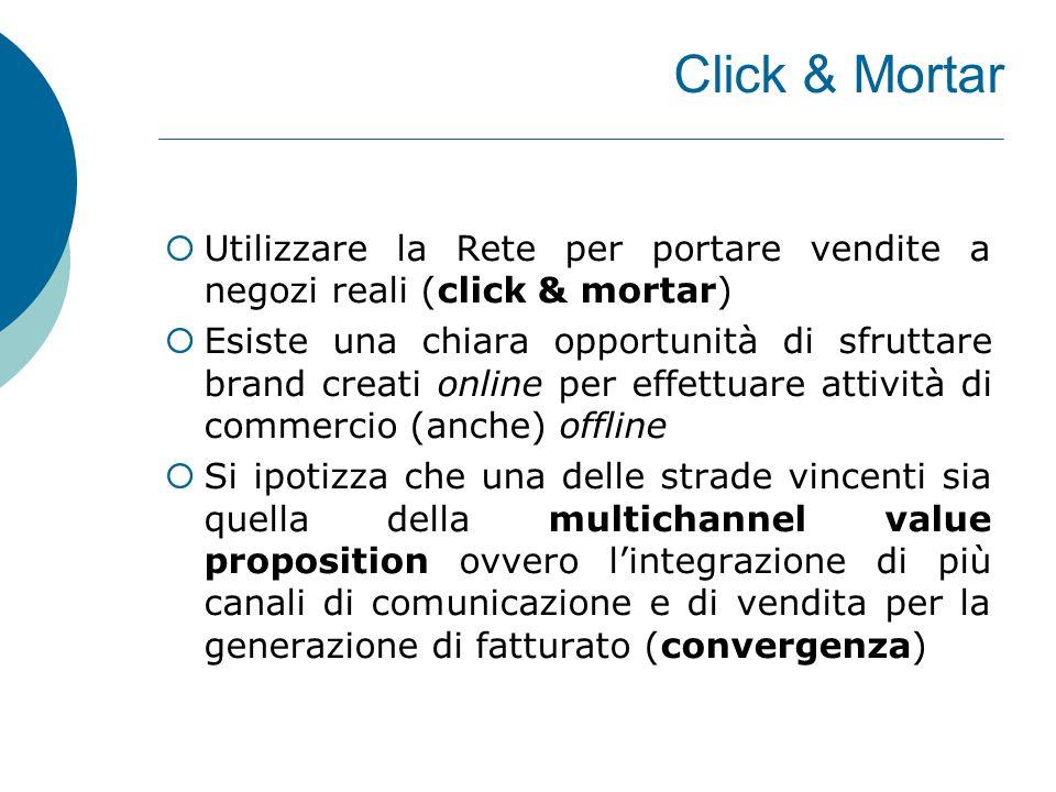 Click & Mortar Utilizzare la Rete per portare vendite a negozi reali (click & mortar)