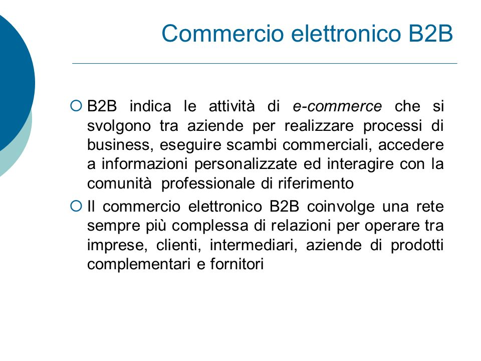 Commercio elettronico B2B