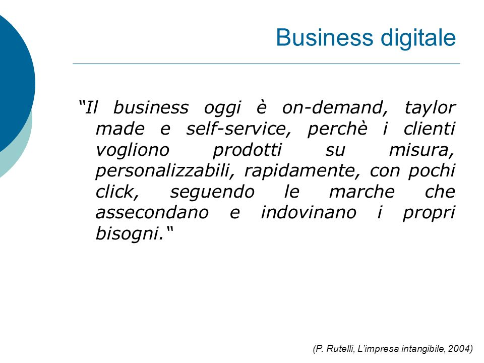 Business digitale