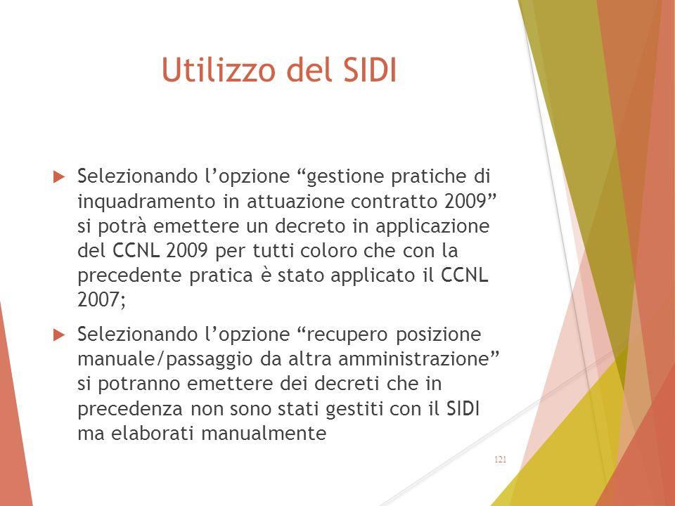 Utilizzo del SIDI