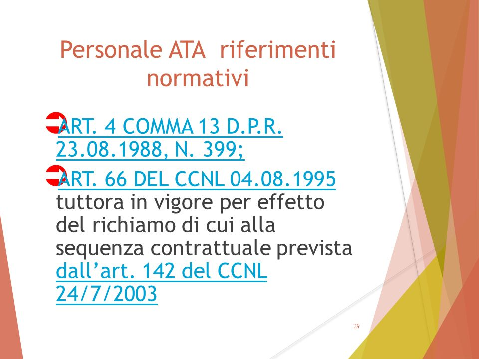 Personale ATA riferimenti normativi