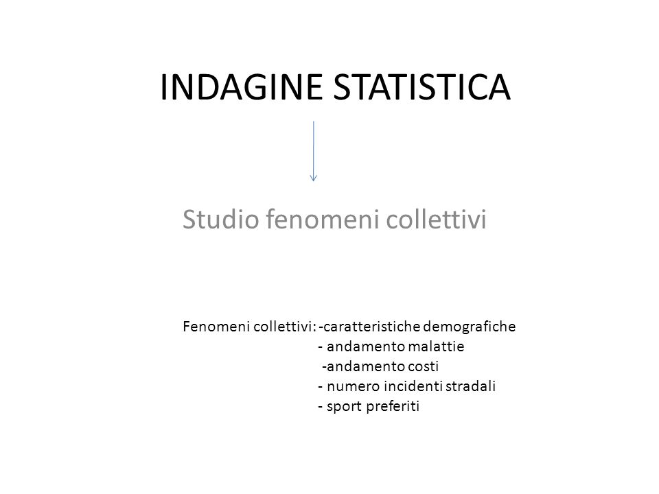 Studio fenomeni collettivi