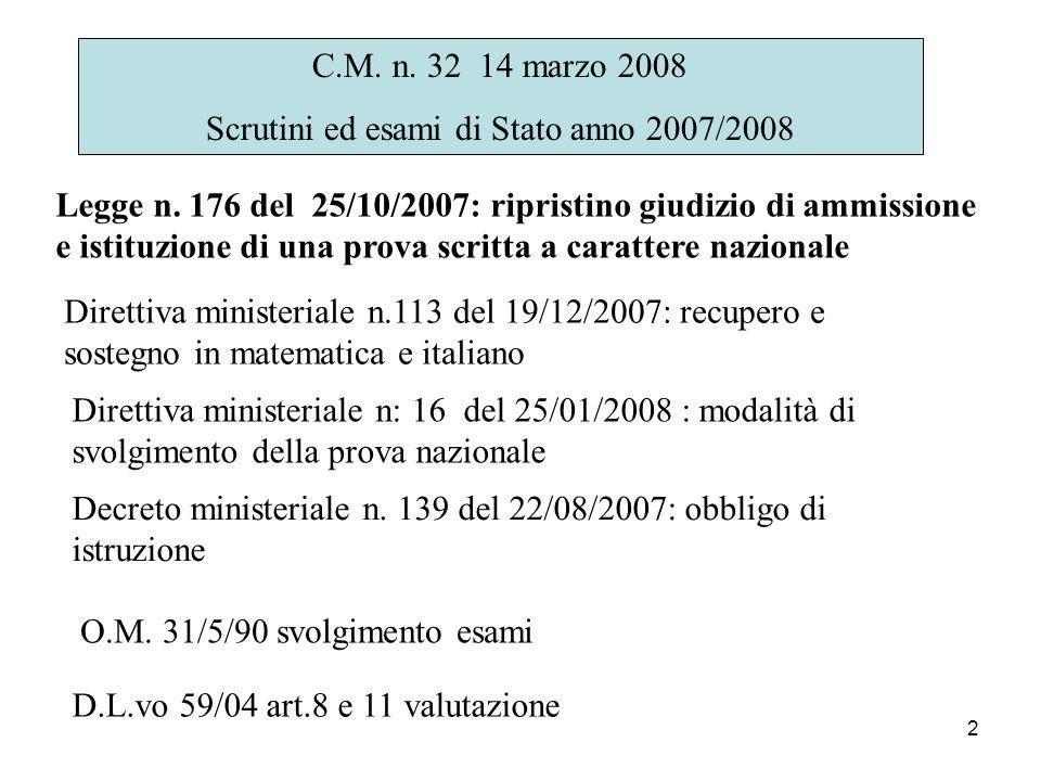Scrutini ed esami di Stato anno 2007/2008