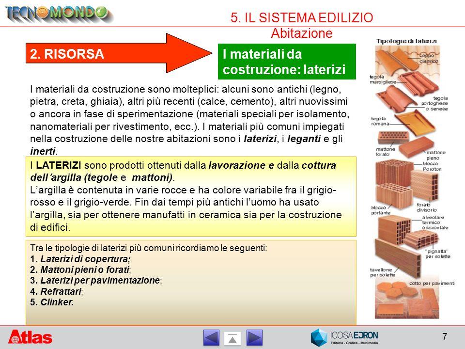 I materiali da costruzione: laterizi