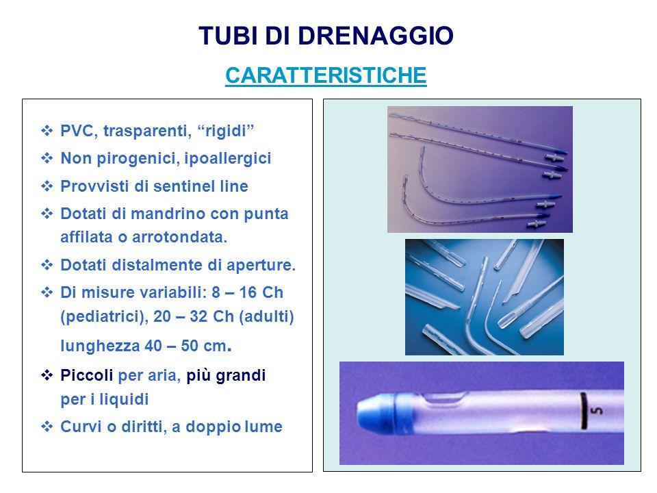 TUBI DI DRENAGGIO CARATTERISTICHE
