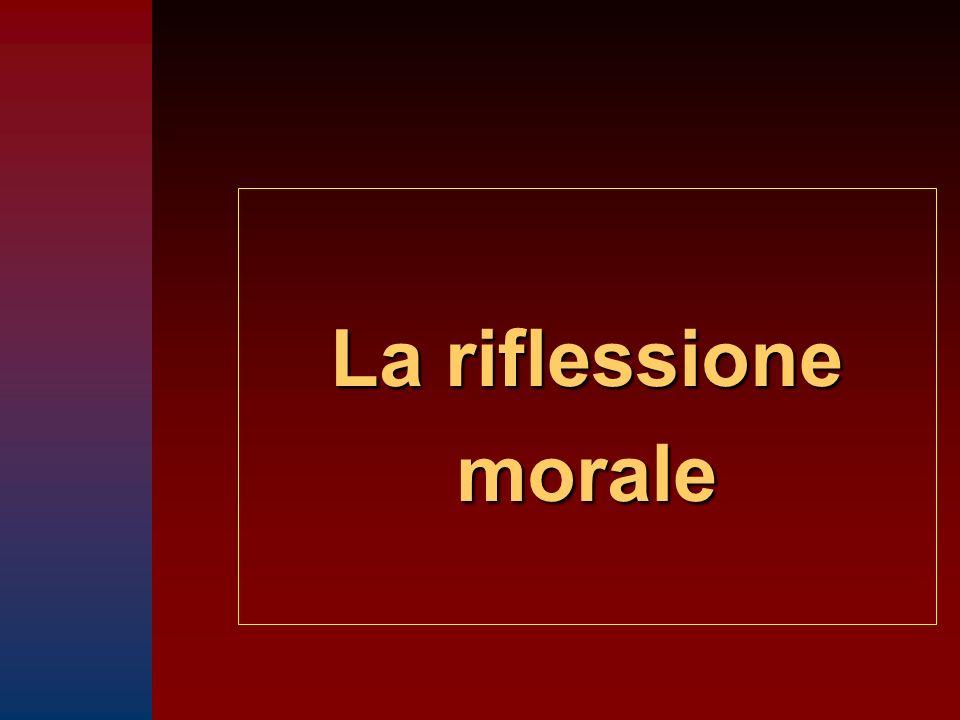 La riflessione morale