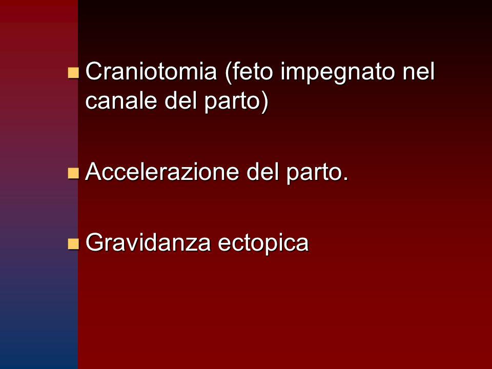 Craniotomia (feto impegnato nel canale del parto)