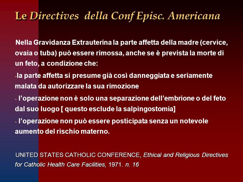 Le Directives della Conf Episc. Americana