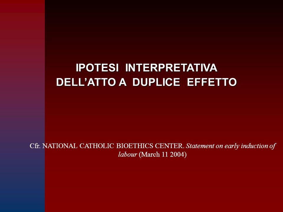 IPOTESI INTERPRETATIVA DELL'ATTO A DUPLICE EFFETTO