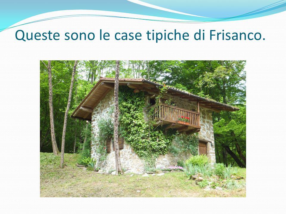 Queste sono le case tipiche di Frisanco.