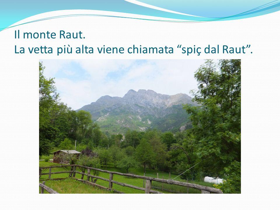 Il monte Raut. La vetta più alta viene chiamata spiç dal Raut .