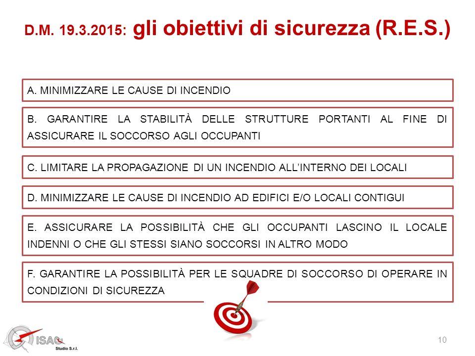 D.M. 19.3.2015: gli obiettivi di sicurezza (R.E.S.)