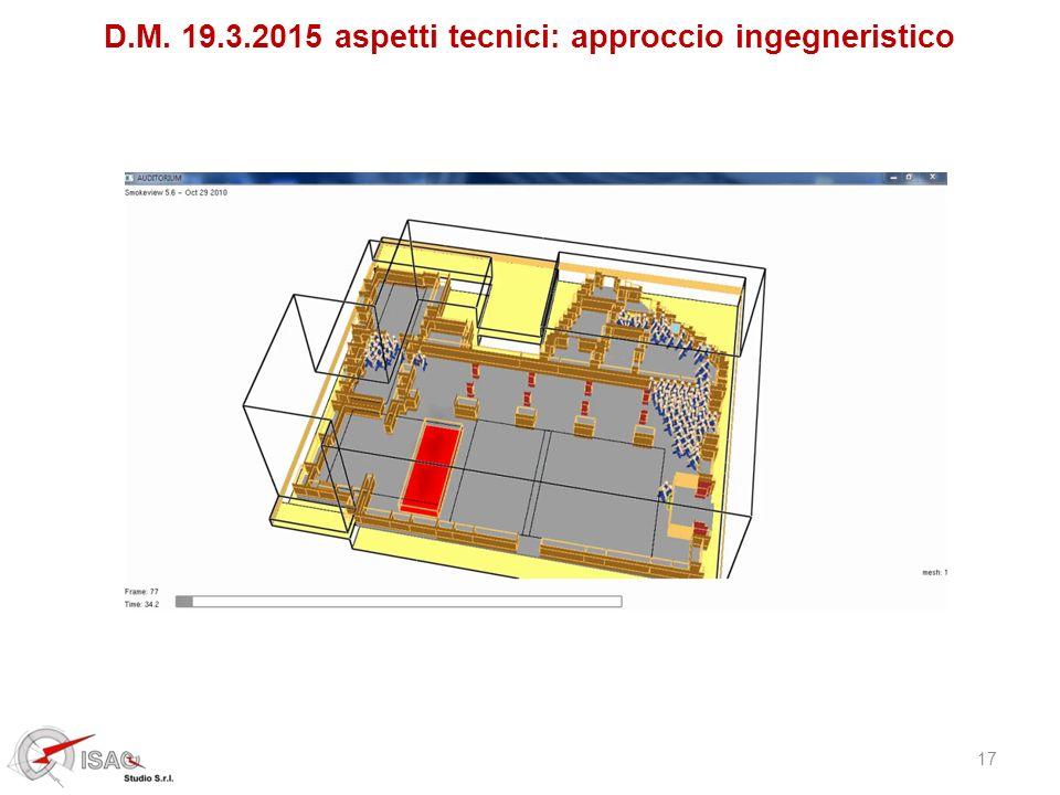 D.M. 19.3.2015 aspetti tecnici: approccio ingegneristico