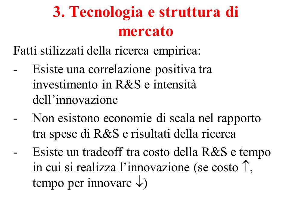 3. Tecnologia e struttura di mercato