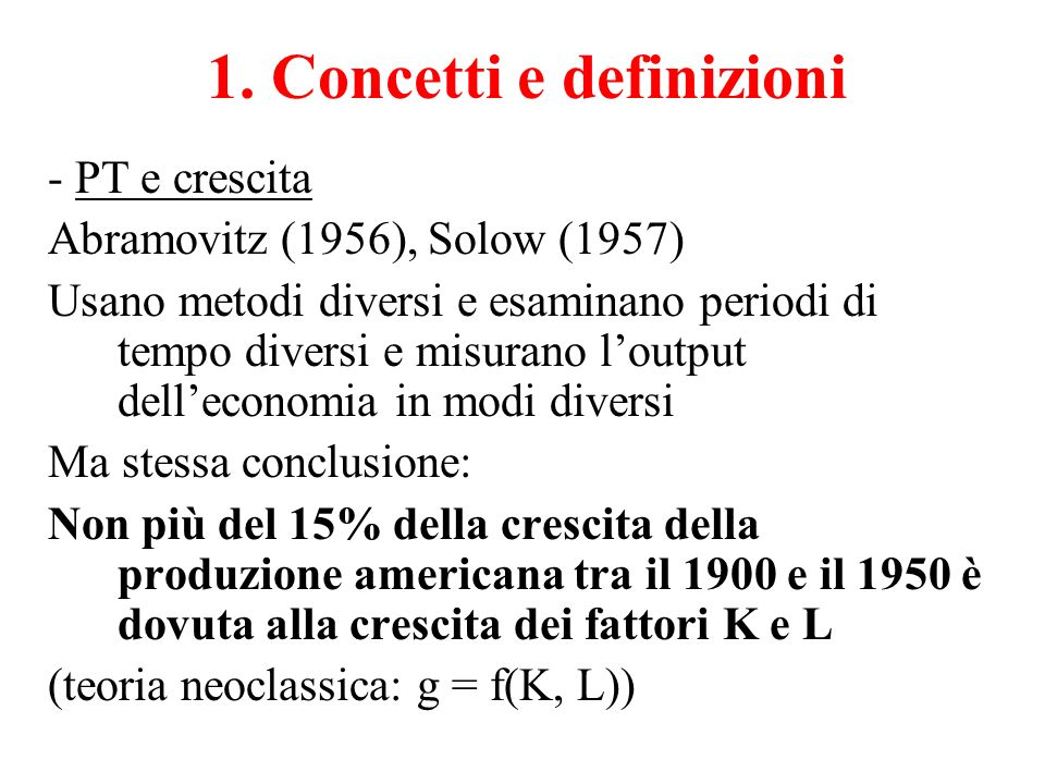 1. Concetti e definizioni