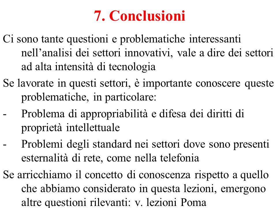 7. Conclusioni