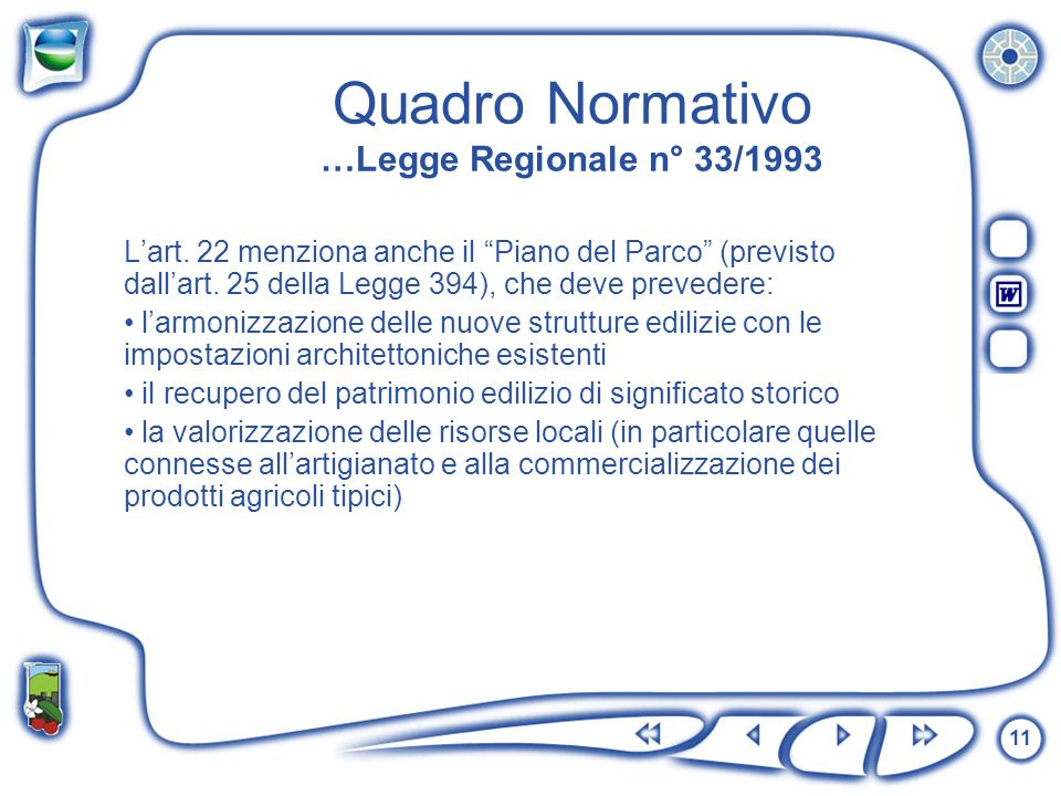 Quadro Normativo …Legge Regionale n° 33/1993