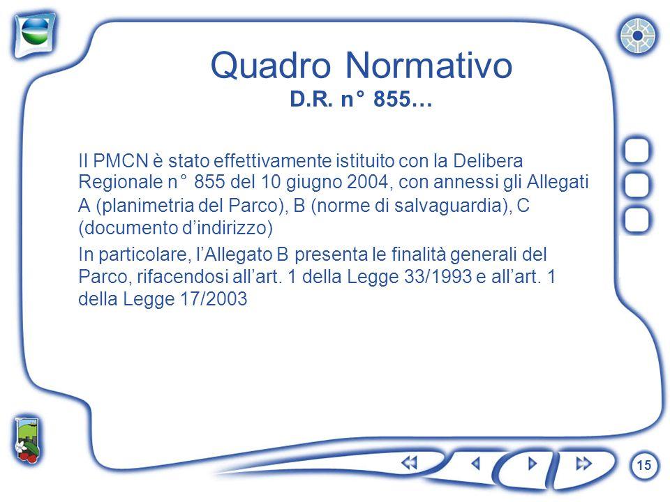Quadro Normativo D.R. n° 855…