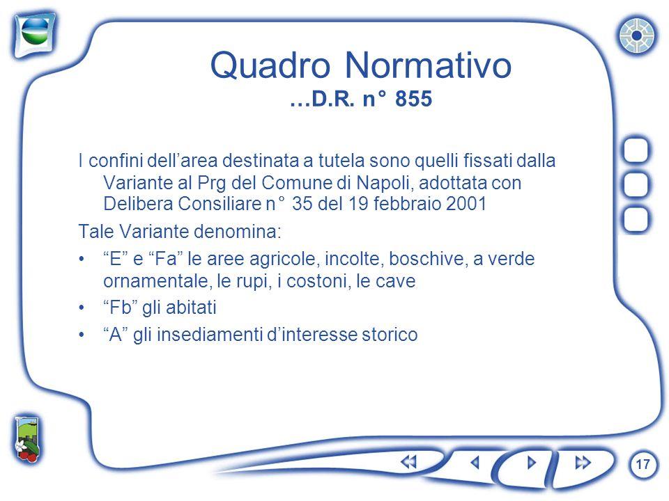 Quadro Normativo …D.R. n° 855