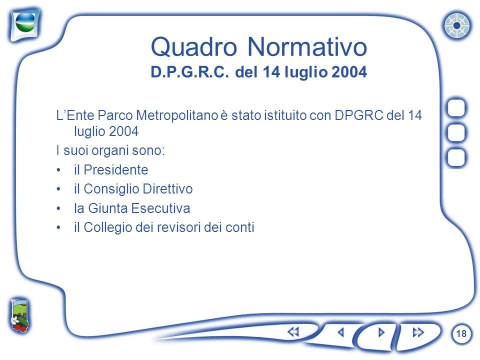 Quadro Normativo D.P.G.R.C. del 14 luglio 2004