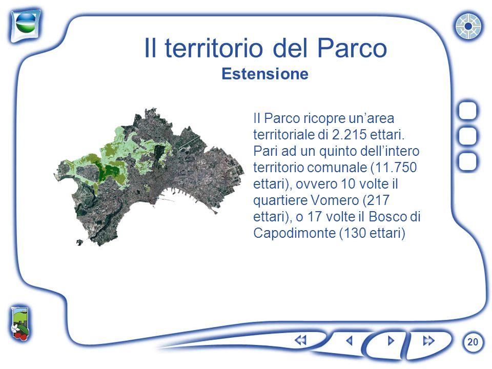Il territorio del Parco Estensione