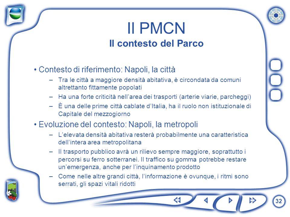 Il PMCN Il contesto del Parco