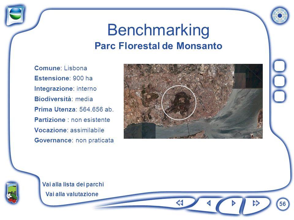 Benchmarking Parc Florestal de Monsanto