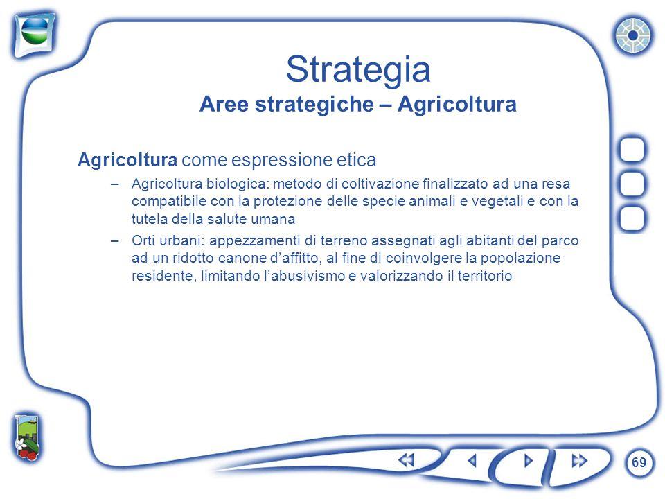 Strategia Aree strategiche – Agricoltura