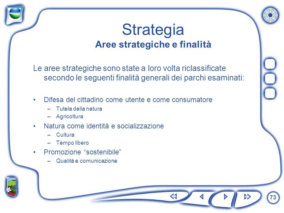 Strategia Aree strategiche e finalità