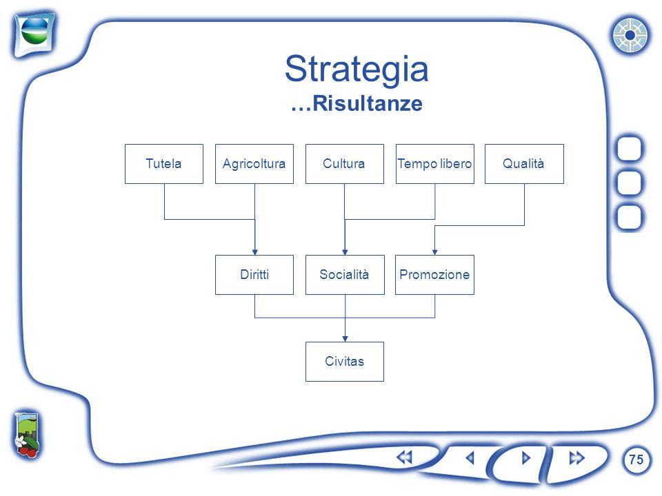 Strategia …Risultanze