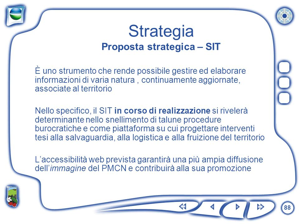 Strategia Proposta strategica – SIT