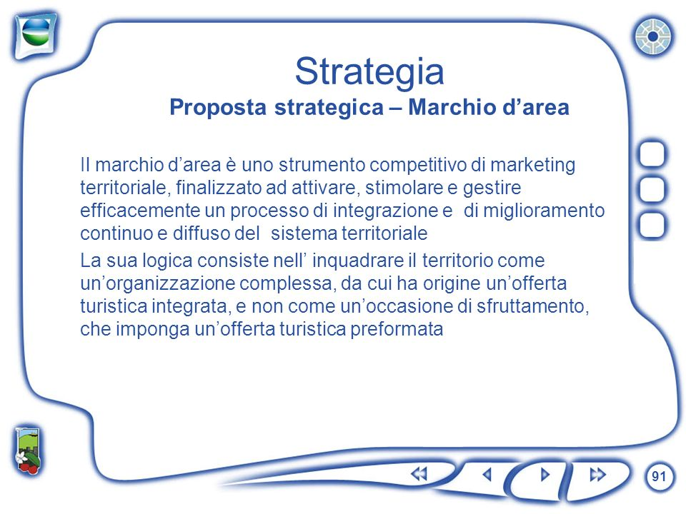 Strategia Proposta strategica – Marchio d'area