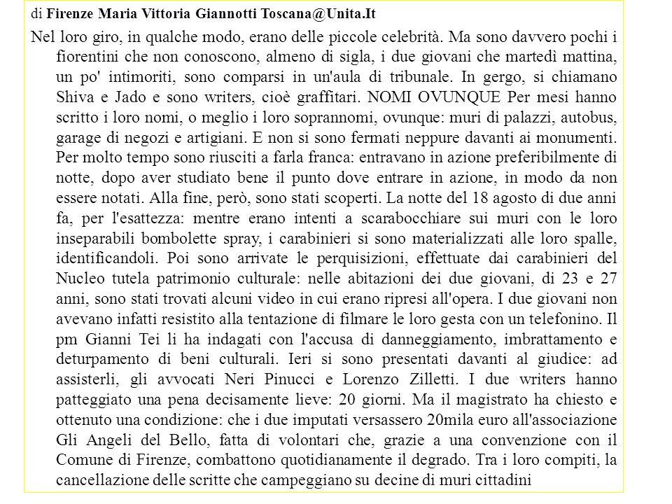 di Firenze Maria Vittoria Giannotti Toscana@Unita.It