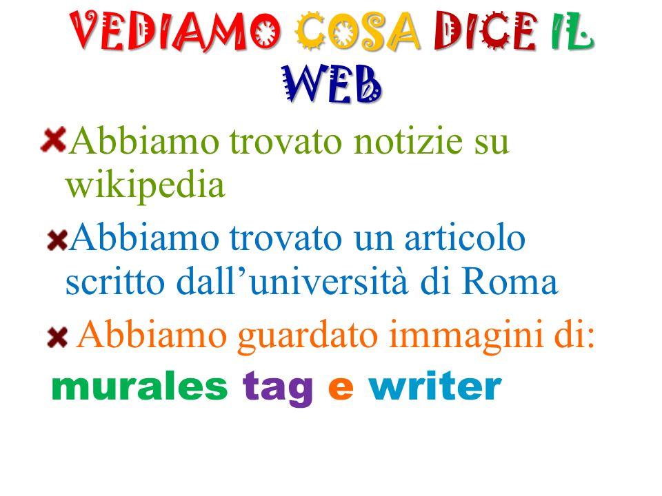 VEDIAMO COSA DICE IL WEB
