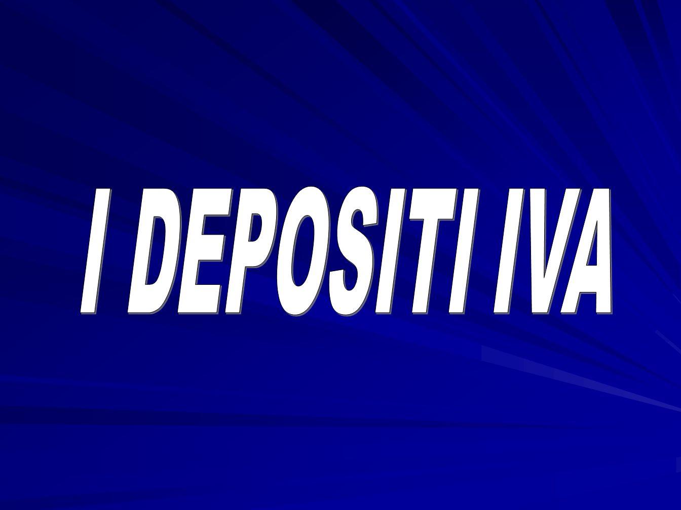 I DEPOSITI IVA