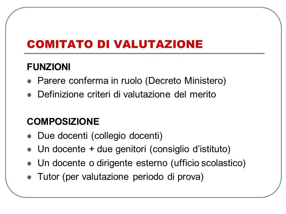 COMITATO DI VALUTAZIONE