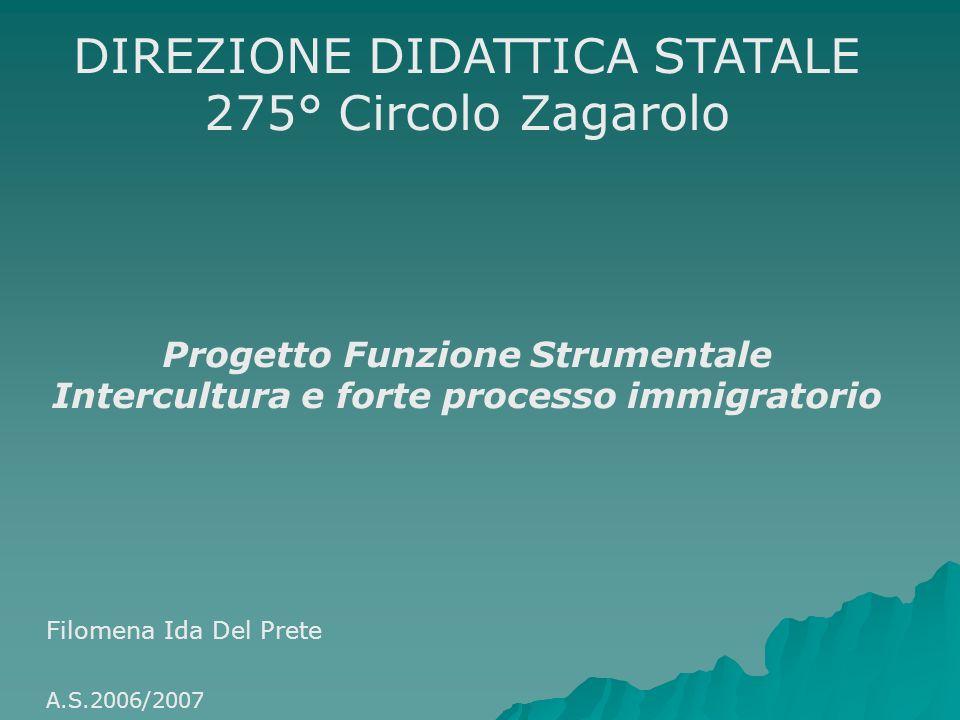 DIREZIONE DIDATTICA STATALE 275° Circolo Zagarolo