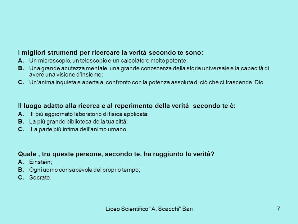 Liceo Scientifico A. Scacchi Bari