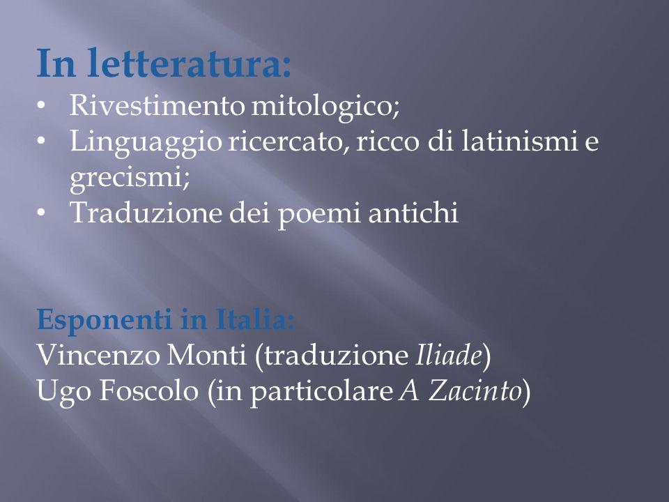 In letteratura: Rivestimento mitologico;