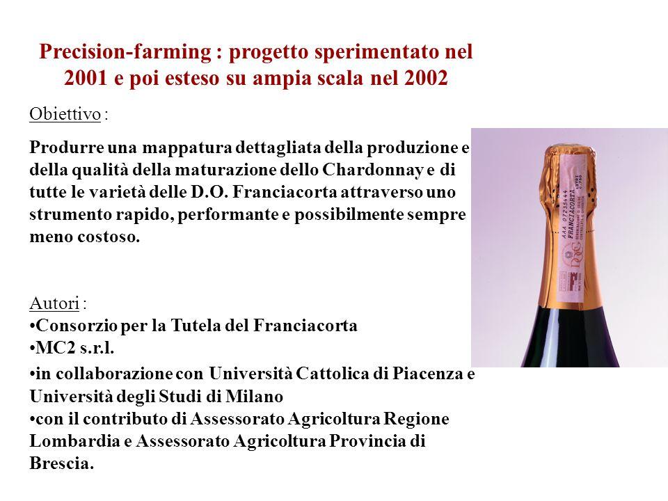 Precision-farming : progetto sperimentato nel 2001 e poi esteso su ampia scala nel 2002