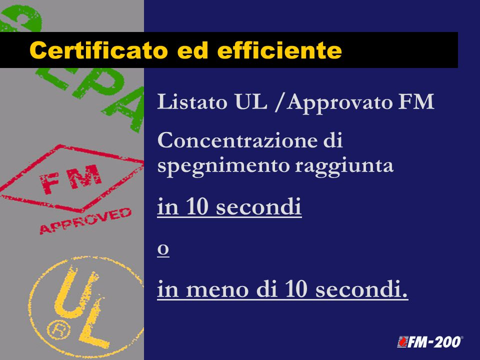 Certificato ed efficiente